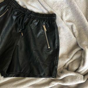 F21 Drawstring Leathers Short